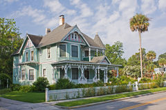 Green victorian style home Royalty Free Stock Photography