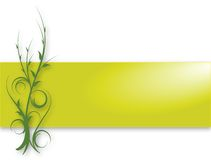 Green Vine Banner. Banner or border with swirly vines design and gradient background Royalty Free Stock Images