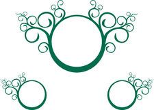 Green vine spiral. A green vine-like spiral design Royalty Free Stock Photos