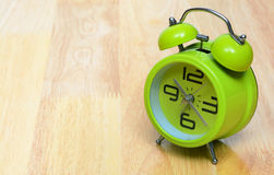 Green vintage  alarm clock Royalty Free Stock Images
