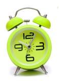 Green vintage  alarm clock Stock Photo