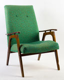 Green vintage armchair Stock Photos
