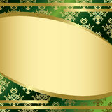 Green vintage vector background with gold decorations Royalty Free Stock Images
