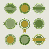 Green vintage badges templates Stock Image