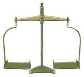 Green Vintage Balance Scales Industrial Stock Photography