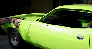Green vintage car Stock Photos