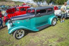 Green vintage car Stock Photo