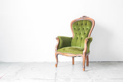 Green Vintage chair Stock Image