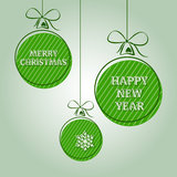 Green vintage christmas text 2 Royalty Free Stock Image