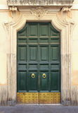 Green vintage door Royalty Free Stock Images