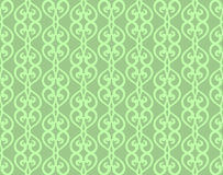 Green Vintage Forged Lacing Seamless pattern Stock Photos