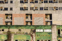 Green vintage modern facade in Manaus, Brazil Royalty Free Stock Photo