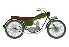 Green vintage motorbike. Stock Photo