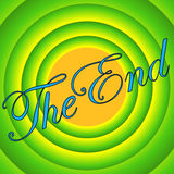 Green Vintage movie ending the end. Vintage movie ending screen. Other lettering or color can be made upon request Royalty Free Stock Photo