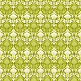 Green vintage Paisley damask wallpaper Royalty Free Stock Photography