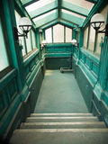Green vintage passageway Royalty Free Stock Photos