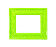 Green Vintage picture frame on white background Royalty Free Stock Image