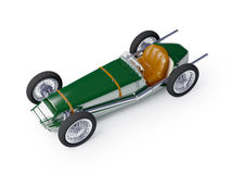 Green vintage racing car Royalty Free Stock Photos