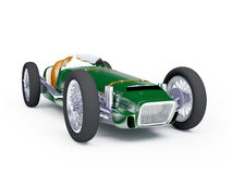 Green vintage racing car Royalty Free Stock Images