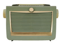 Green Vintage Radio Stock Photo