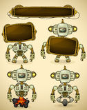 Green vintage robot devices Stock Photo