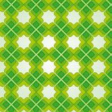 Green Vintage Seamless Pattern. Illustration of a green vintage seamless pattern wallpaper Vector Illustration