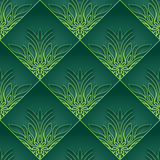 Green Vintage Seamless Wallpaper Royalty Free Stock Photo
