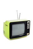 Green vintage style old television Royalty Free Stock Photos