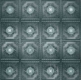 Green Vintage Tiles Pattern Background Royalty Free Stock Images
