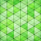 Green vintage triangles vector background Stock Images