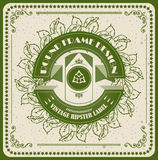 Green vintage vector cool eco design label Stock Photography