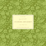 Green vintage wedding card Stock Photos