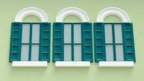 Green vintage window Stock Image