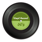Green vinyl record Stock Photography