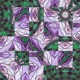 Green and violet abstract floral background with frame. Green and violet abstract floral background royalty free illustration