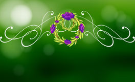 A green and violet border design Royalty Free Stock Images