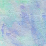 Green and violet crumpled paper for background Stock Image