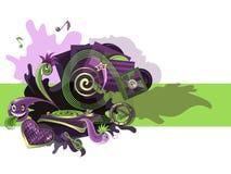 Green violet music Stock Photos