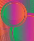 Green-violet-orange round signs Stock Image