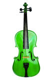 Green violin Royalty Free Stock Images