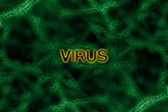 Green virus background Stock Images
