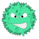 Green virus on white Stock Image