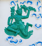 Green Vishnu wall art Stock Photos