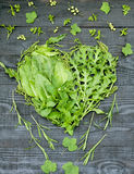 Green vitamin heart Royalty Free Stock Image