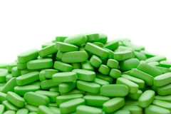 Green vitamin pills Royalty Free Stock Images