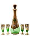 Green vodka set Royalty Free Stock Photography