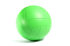 Green volley ball. Isolated on white background Royalty Free Stock Photography