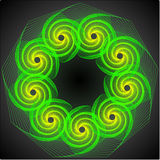 Green vortex 1 Royalty Free Stock Image