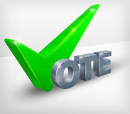 Vote check mark on white Stock Photography