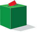 Green voting box. And red enveloppe Stock Photography